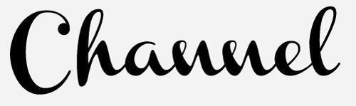 channel script font