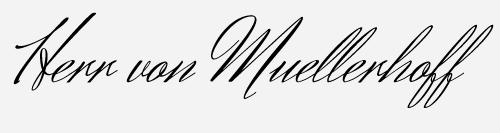 herr von muellerhoff script font