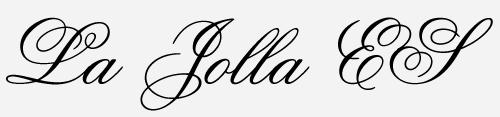 la jolla es script font