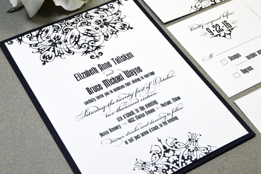 Medieval Gothic Wedding Invitation Suite from Etsy