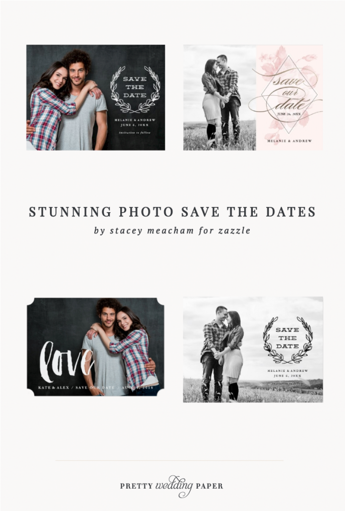 Stunning Photo Save the Dates by Stacey Meacham for Zazzle