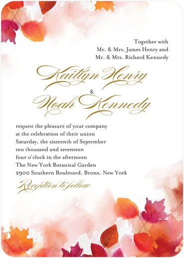 Autumn Air Wedding Invitations from WeddingPaperDivas