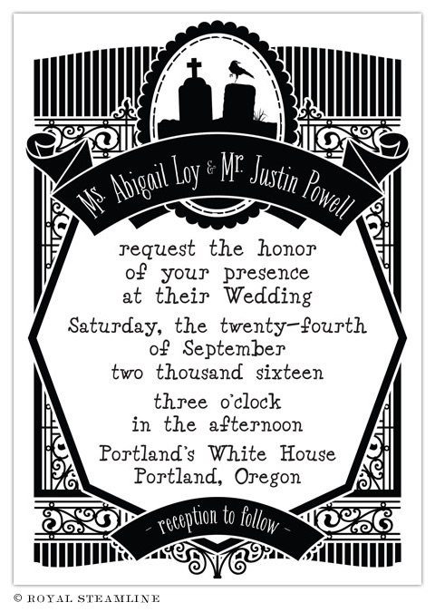 Edward Wedding Invitation from Royal Steamline