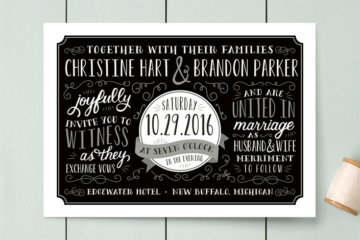 Serendipity Wedding Invitations from Minted