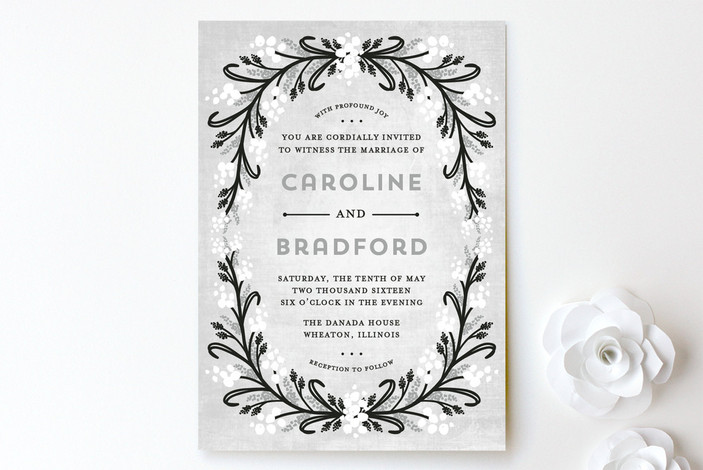 Midnight Floral Wedding Invitations from Minted