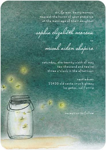 Simple Pleasures Wedding Invitation by Sarah Hawkins Designs for Wedding Paper Divas