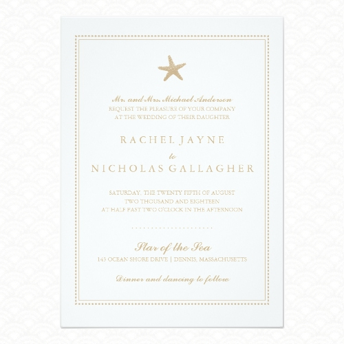 Graceful Starfish wedding invitations from La Bella Rue