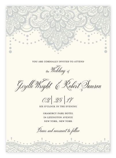Vintage Lace Wedding Invitations from Wedding Paper Divas