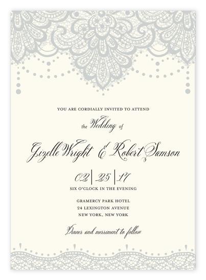 Vintage Lace Wedding Invitations from Wedding Paper Divas