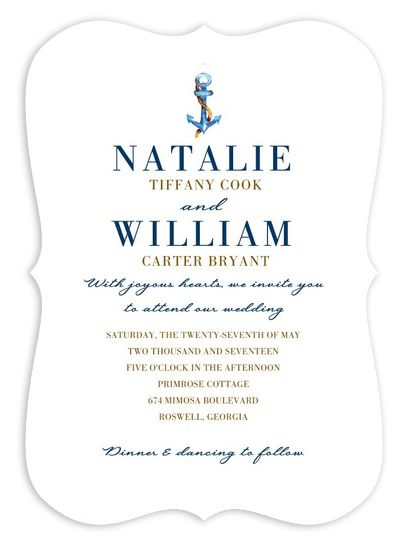 Classic Nautical Anchor Wedding Invitations