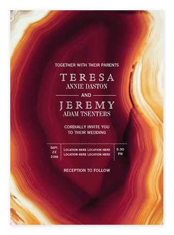 Red Agate Wedding Invitations from Zazzle