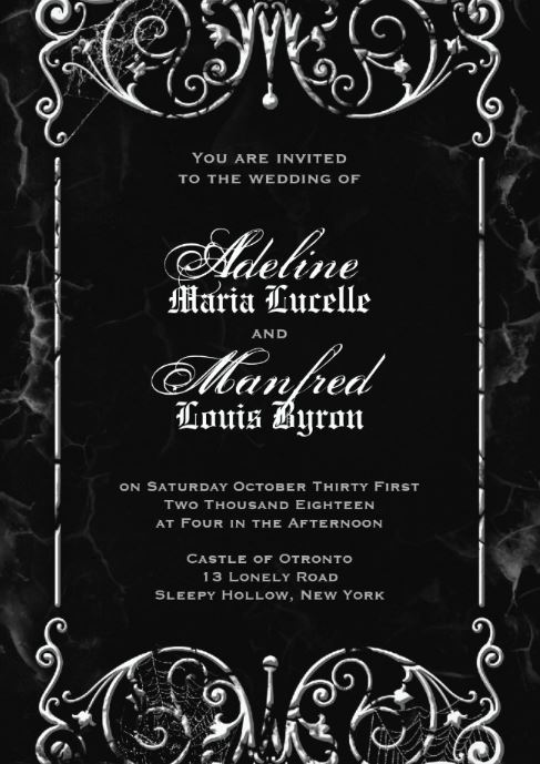 Gothic Victorian Wedding Invitation