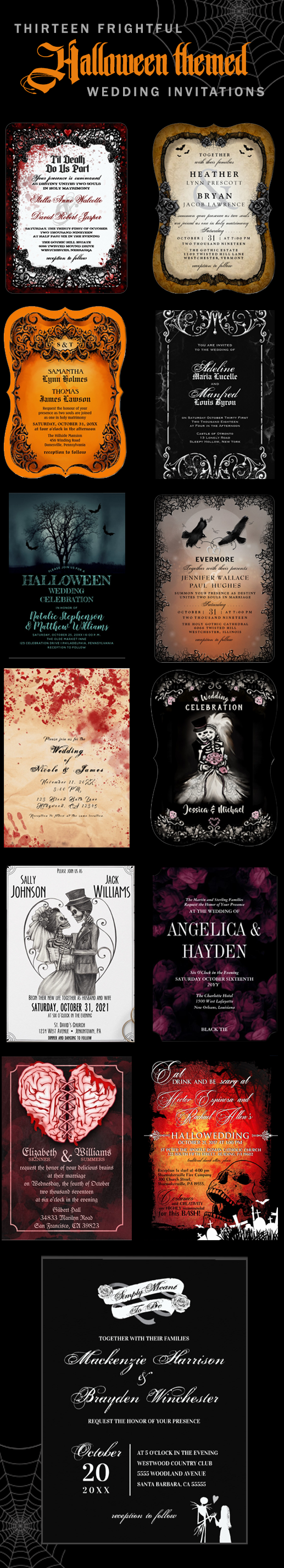 Halloween Wedding Invitations