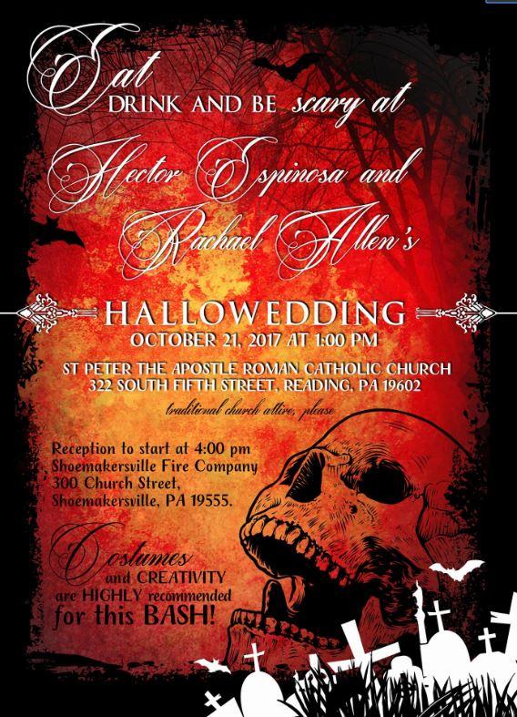 Hallowedding Halloween Wedding Invitations