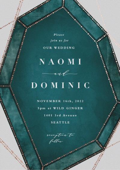 Geometric Gem Wedding Invitation Preview